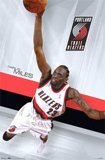 "Darius Miles ""Flying High"" Portland Trail Blazers Poster - Costacos Sports 2007"
