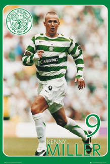 "Kenny Miller ""Super Action"" Glasgow Celtic FC Poster - GB 2007"
