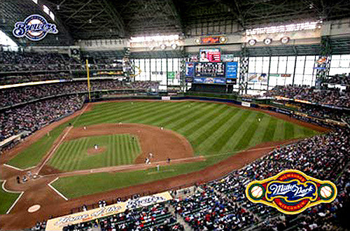 Milwaukee Brewers Miller Park Gameday Poster - Costacos Sports