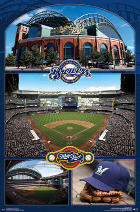 Miller Park Celebration Milwaukee Brewers Official MLB Stadium Poster - Trends International