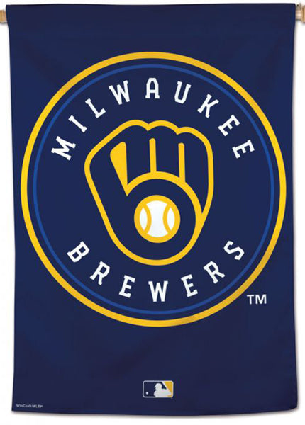 Milwaukee Brewers Official MLB Team Logo Premium 28x40 Wall Banner - Wincraft Inc.