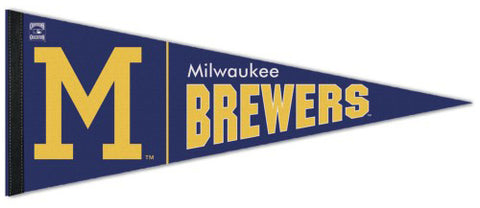 Milwaukee Brewers Cooperstown Collection 1970s-Style Premium Felt Pennant - Wincraft Inc.