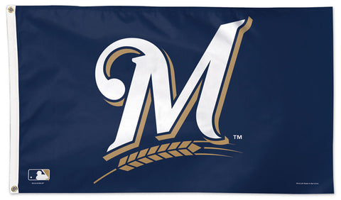 Milwaukee Brewers Official MLB Baseball DELUXE 3'x5' Team Flag - Wincraft Inc.