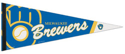Milwaukee Brewers Classic Ball-in-Glove-Style Team Logo Premium Felt Pennant - Wincraft