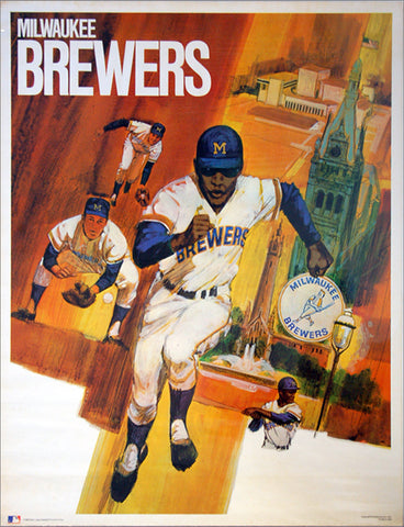 Milwaukee Brewers Classic Theme Art Poster - ProMotions 1971