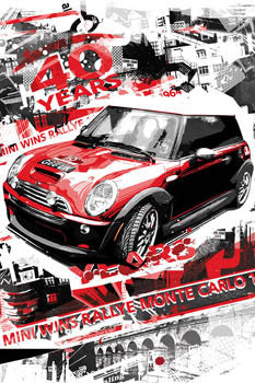 Mini Cooper, Monte Carlo Champ Commemorative Poster - W&G