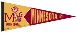Minnesota Golden Gophers NCAA College Vault 1960s-Style Premium Felt Collector's Pennant - Wincraft Inc.