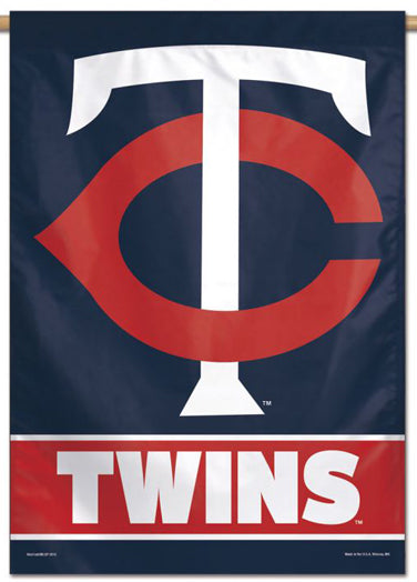 Minnesota Twins Official MLB Team Logo Premium 28x40 Wall Banner - Wincraft Inc.