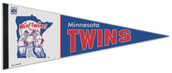 "Minnesota Twins ""Win! Twins!"" 1976-86-Style Cooperstown Collection Premium Felt Pennant - Wincraft"
