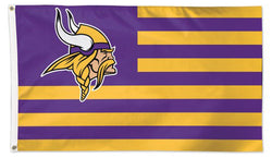 "Minnesota Vikings ""Americana"" Official NFL Football HUGE 3'x5' Deluxe-Edition Team FLAG - Wincraft"