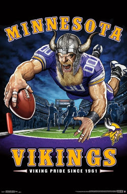 "Minnesota Vikings ""Viking Pride Since 1961"" NFL Theme Art Poster - Liquid Blue/Trends Int'l."