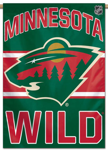 Minnesota Wild Official NHL Hockey Team Premium 28x40 Wall Banner - Wincraft Inc.