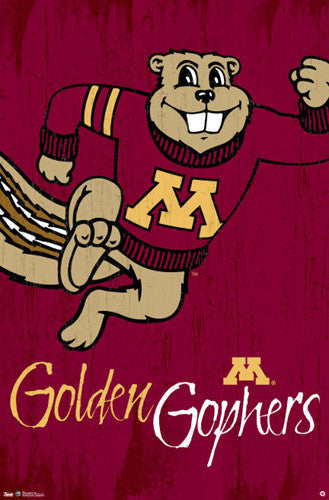 "University of Minnesota Golden Gophers ""Goldy Classic"" Official NCAA Logo Poster"