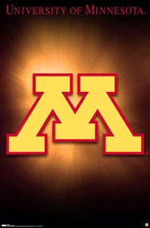 University of Minnesota Golden Gophers Official NCAA Team Logo Poster - Costacos