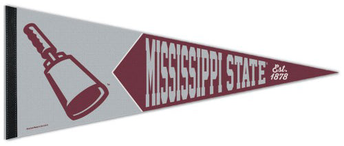 Mississippi State Bulldogs Cowbell-Style NCAA Vintage Collection 1950s-Style Premium Felt Collector's Pennant - Wincraft Inc.