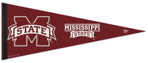 Mississippi State Bulldogs Official NCAA Premium Felt Collector's Pennant - Wincraft Inc.