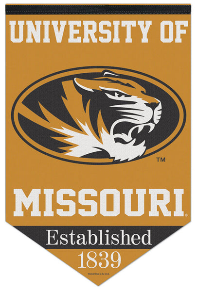 "University of Missouri Tigers ""Est. 1839"" Official NCAA Premium Felt Wall Banner - Wincraft"