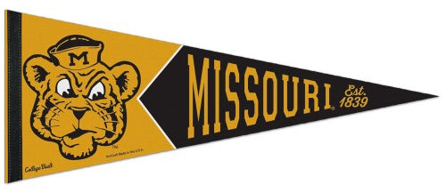 Missouri Tigers NCAA College Vault 1950s-Style Premium Felt Collector's Pennant - Wincraft Inc.