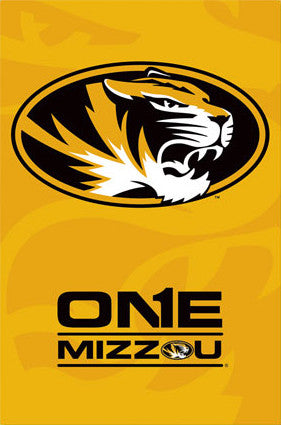 "University of Missouri Tigers ""One"" Official NCAA Logo Poster - Costacos 2013"