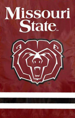 Missouri State Bears Team Logo Premium Applique Nylon Banner Flag - Party Animal Inc.