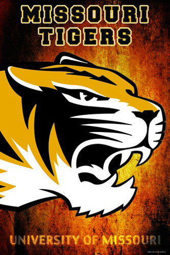 "Missouri Tigers ""Roar"" Team Spirit NCAA Logo Poster - ProGraphs Inc."