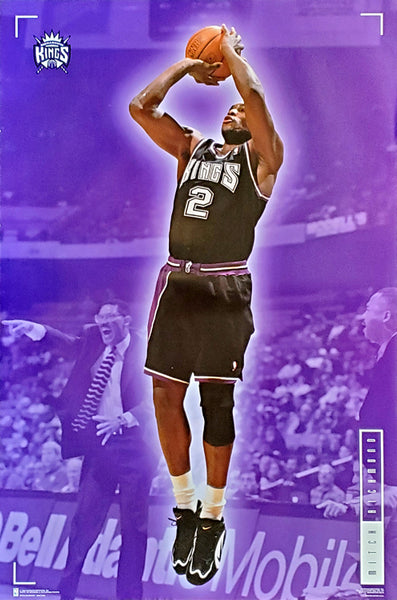 "Mitch Richmond ""Dagger"" Sacramento Kings NBA Basketball Action Poster - Costacos 1996"