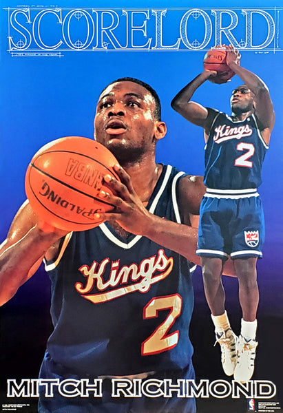 "Mitch Richmond ""Scorelord"" Sacramento Kings Poster - Costacos 1992"
