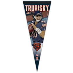 "Mitchell Trubisky ""Signature Series"" Chicago Bears Premium Felt Collector's Pennant - Wincraft"