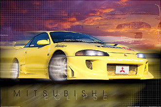Mitsubishi Eclipse Supercar Sports Car Poster - Import Images Inc.