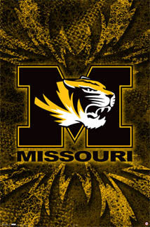 University of Missouri Tigers Official NCAA Logo Poster - Costacos Sports