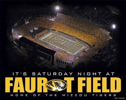 "Missouri Tigers Football ""It's Saturday Night at Faurot Field"" Poster Print - ProGraphs Inc."
