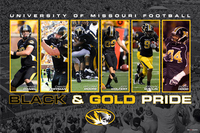 "Missouri Tigers Football ""Black & Gold Pride"" (2008) Poster - ProGraphs Inc."