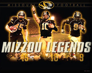 "Missouri Football ""Legends"" Commemorative Poster Print (Coffman, Daniels, Maclin)"