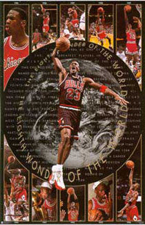 "Michael Jordan ""Eighth Wonder"" Chicago Bulls Vintage Original Poster - Costacos Brothers 1997"