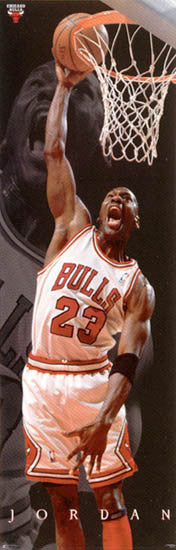 "Michael Jordan ""Six-Foot Slam"" Chicago Bulls HUGE Door-Sized Poster - Costacos 1997"