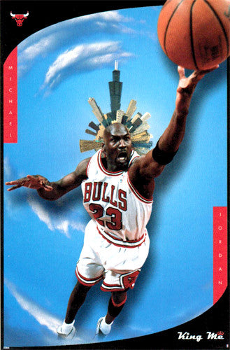 "Michael Jordan ""King Me"" Chicago Bulls NBA Poster - Costacos 1998"