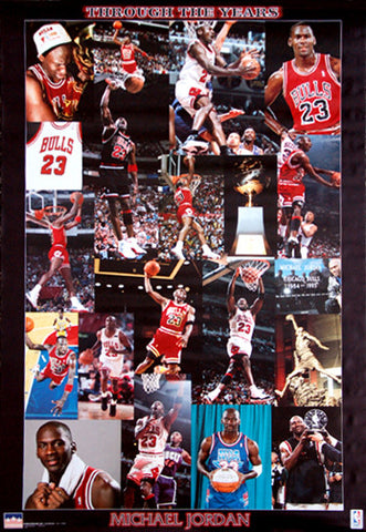 "Michael Jordan ""Through the Years"" Chicago Bulls Poster - Starline Inc. 1998"