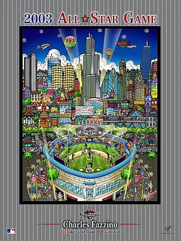 MLB All-Star Game 2003 (Host Chicago White Sox) Commemorative Pop Art Poster by Charles Fazzino