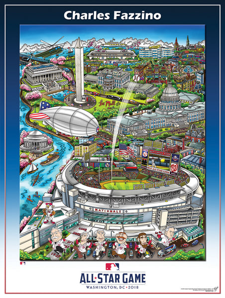 MLB All-Star Game 2018 (Washington, DC) Official Commemorative Pop Art Poster by Charles Fazzino