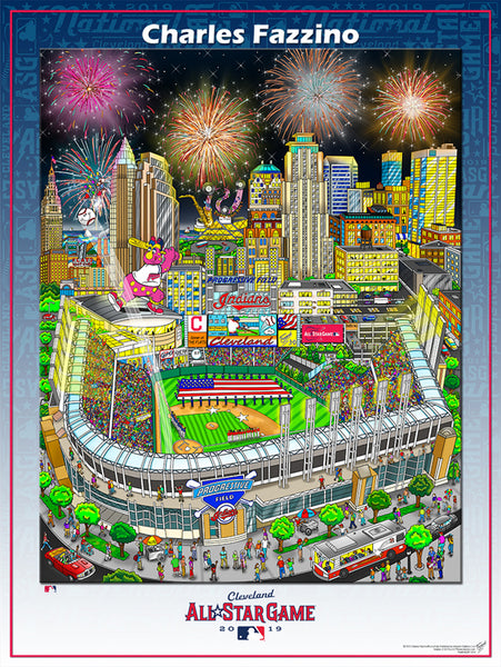 MLB All-Star Game 2019 (Cleveland, Ohio) Official Commemorative Pop Art Poster by Charles Fazzino