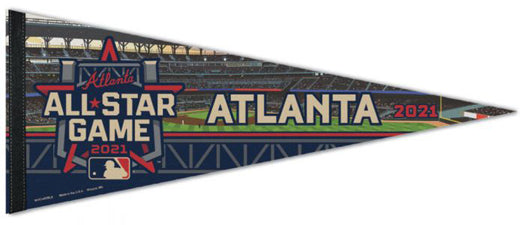 MLB Baseball All-Star Game 2021 Atlanta Official Premium Felt Commemorative Pennant - Wincraft