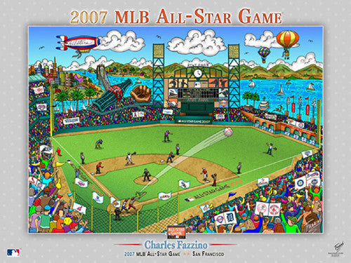 MLB All-Star Game 2007 (San Francisco) Commemorative Pop Art Poster by Charles Fazzino