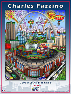 MLB All-Star Game 2009 (St. Louis) Commemorative Pop Art Poster by Charles Fazzino