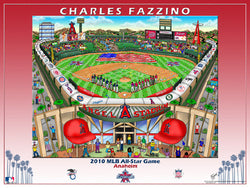 MLB All-Star Game 2010 (Anaheim) Commemorative Pop Art Poster by Charles Fazzino