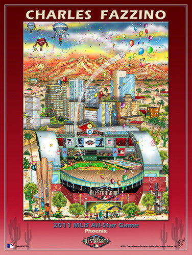 MLB All-Star Game 2011 (Phoenix) Commemorative Pop Art Poster by Charles Fazzino