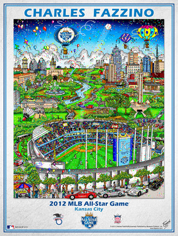 MLB All-Star Game 2012 (Kansas City) Commemorative Pop Art Poster by Charles Fazzino