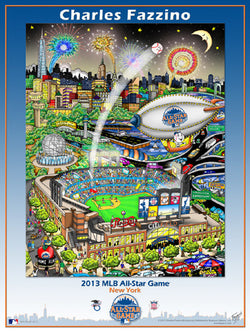 MLB All-Star Game 2013 (New York) Commemorative Pop Art Poster by Charles Fazzino