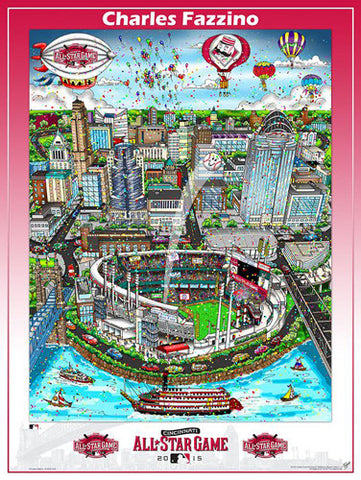 MLB All-Star Game 2015 (Cincinnati) Commemorative Pop Art Poster by Charles Fazzino