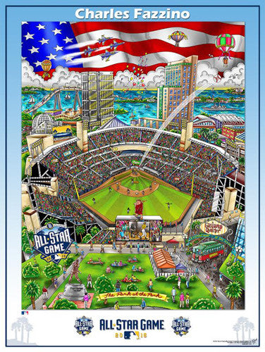 MLB All-Star Game 2016 (San Diego) Commemorative Pop Art Poster by Charles Fazzino