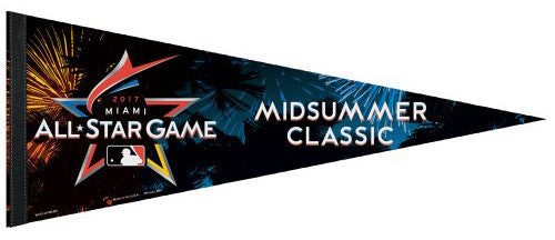 MLB Baseball All-Star Game 2017 (Miami) Official Premium Felt Commemorative Pennant - Wincraft